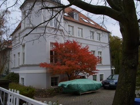One of the old apartment houses in Stralsund
