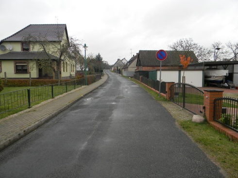 "This is ""die Dorfstrasse"", village road."