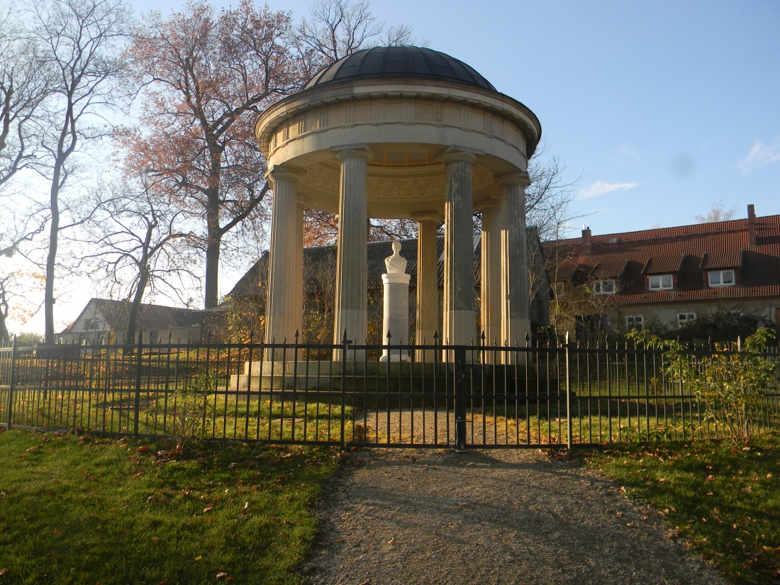 The Louise Temple, dating back to 1815 in the Park of Hohenzieritz