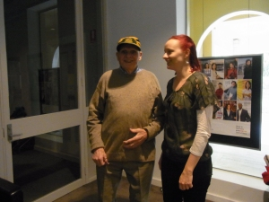 Peter with Caroline at the Goethe Institute