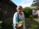 Frances arrives at our home.