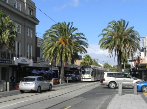 This St Kilda tram took us back to the city