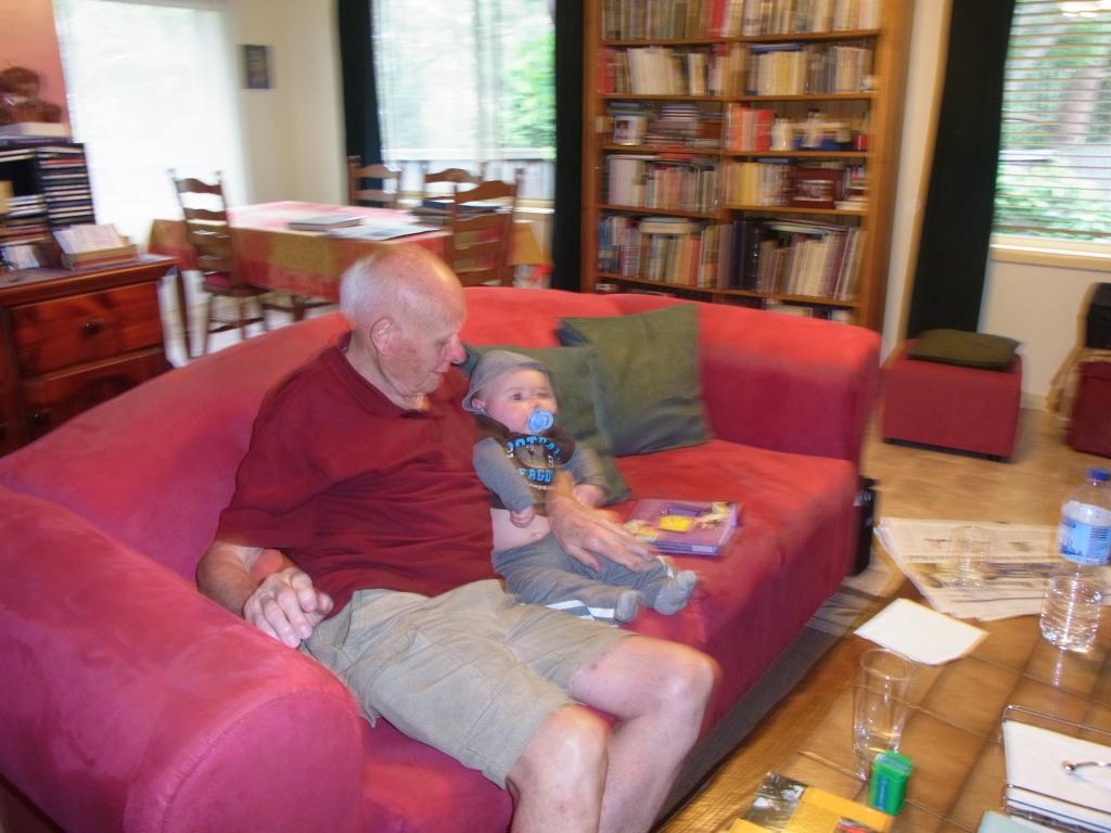 Lucas and Super-Granddad Peter