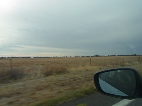 We drive through rather desolate country.