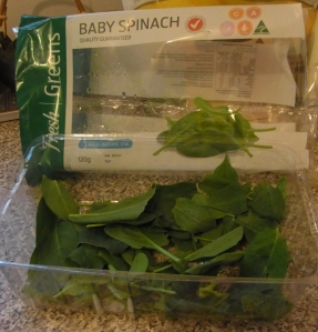 Baby Spinach is nice in a lot of meals!