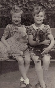Here I am with Eva T in the Zoo Gardens of Berlin in 1942