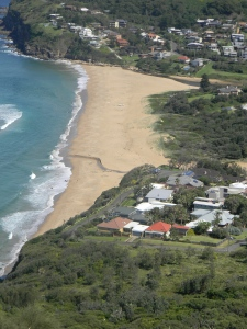 From Bald Hill we had a great look at the little beach.