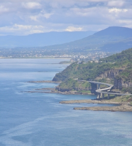 The Sea Cliff Bridge as seen from Bald Hill