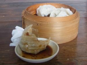 I had dumplings for lunch.