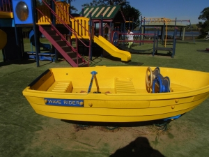 A lovely playground at Lake Illawarra. This boat caught my eye.