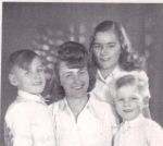 Mum with her three children: Uta, Bodo and Peter-Uwe.  1948 in Berlin