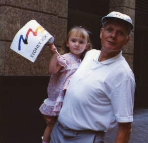 Peter with Natasha in Sydney in 1993