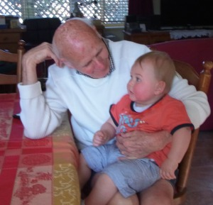 UR -OPA PETER WITH GREAT-GRANDSON LUCAS