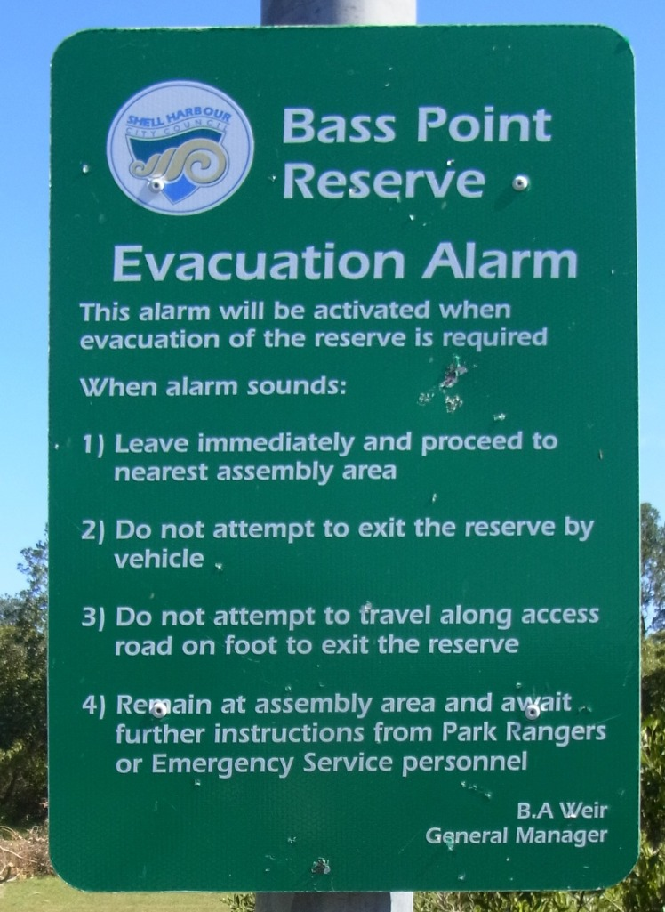 We found this sign a bit further on where we could park our car again.