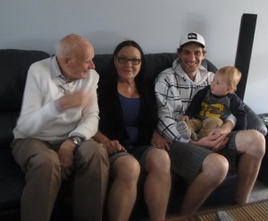 And here are four generations sitting together