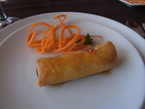 We also had some vegetarian rolls for entree.