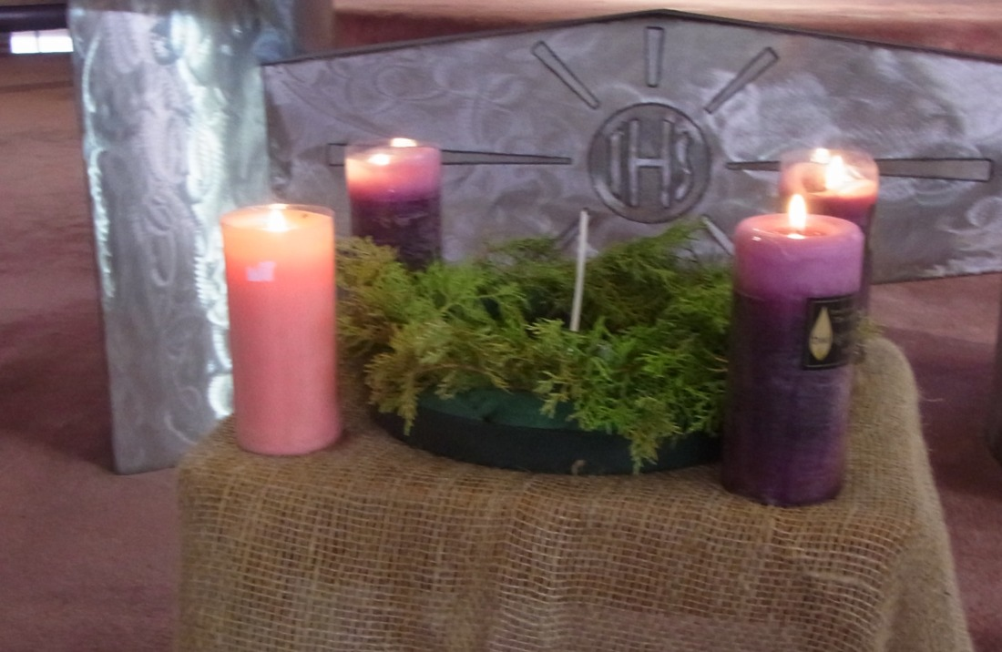 In my Church four candles were lit for the fourth Sunday of Advent.