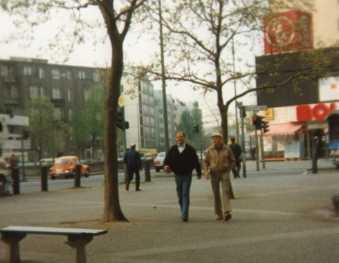 Here is Peter with my brother Peter Uwe in Berlin, Adenauer Platz.