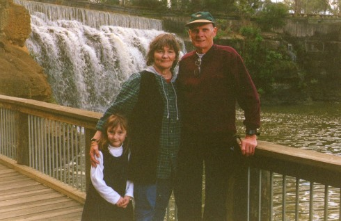Here we are with Monika's daughter Natasha on that day in early September 1997.