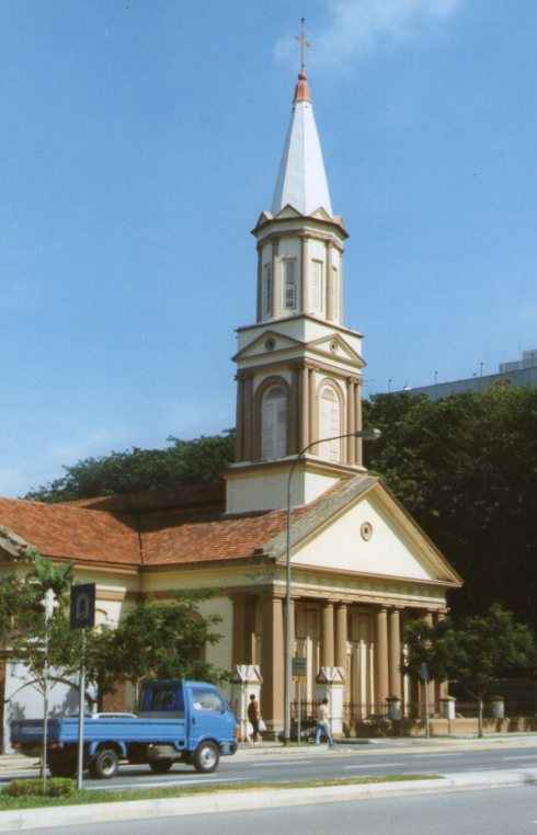 This is Singapore's Catholic Cathedral.