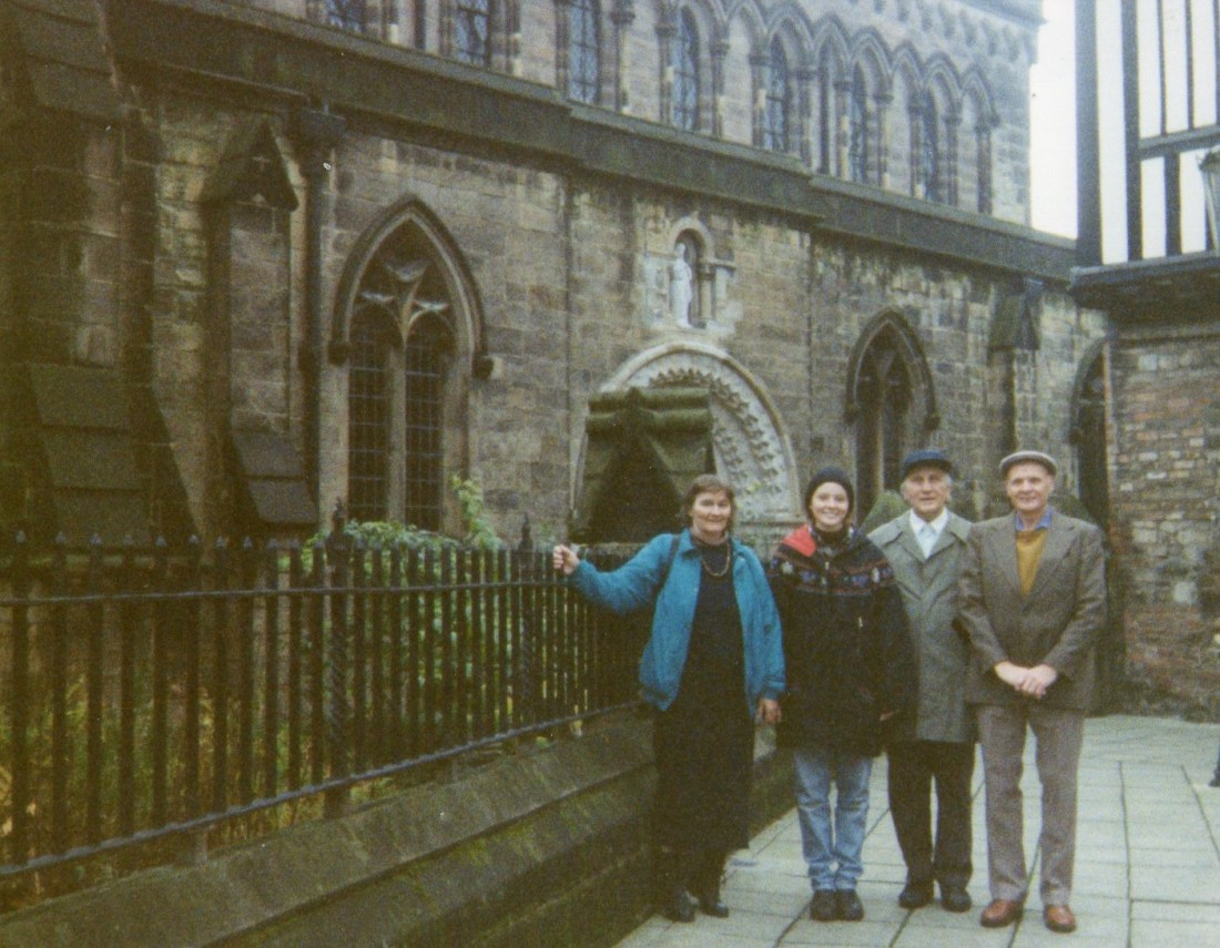 Here we are in Leicester with Richard. Margot took the picture.