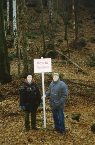 I took this picture of Peter and Caroline where it said that this is the Czech border!