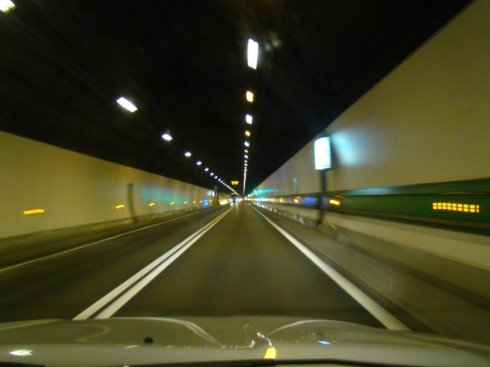This is a picture of the Mont Blanc Tunnel.