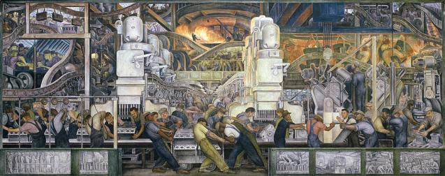 Diego Rivera Detroit Industry Mural 1923
