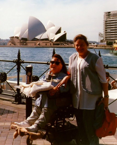 This picture with Ilse and Gaby was taken on the 18th of April 1999.