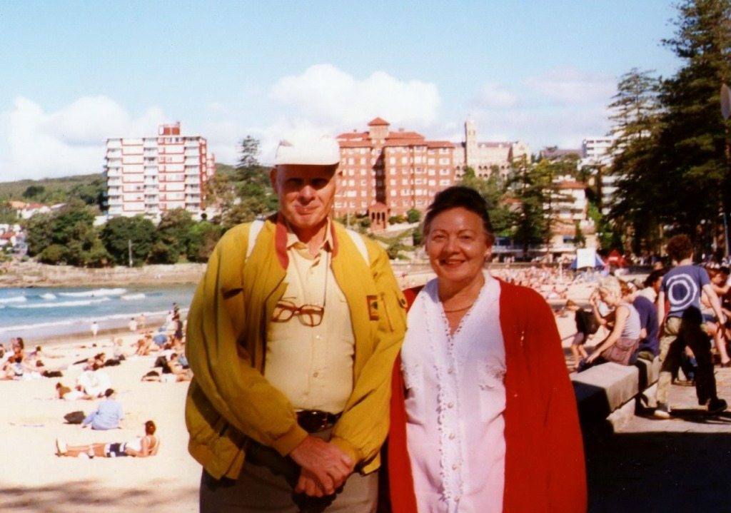 Peter and Ilse at Manly Beach