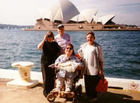 I think David probably took this picture of all of us with the Opera House in the background.