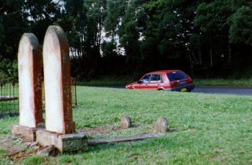 We went with Ilse and Caroline up to the highlands, parking the car near an old cemetery.