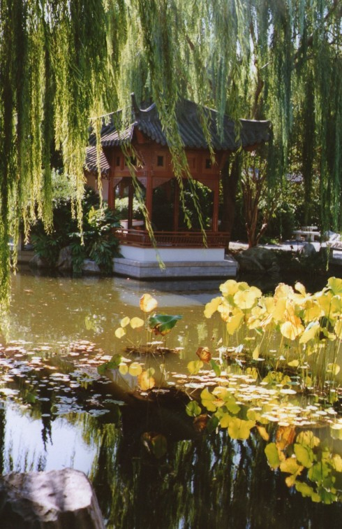The Chinese Gardens in Sydney are very beautiful.