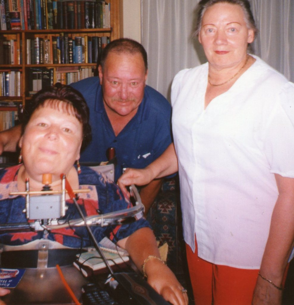 Here is Gaby with her carer David and Ilse.
