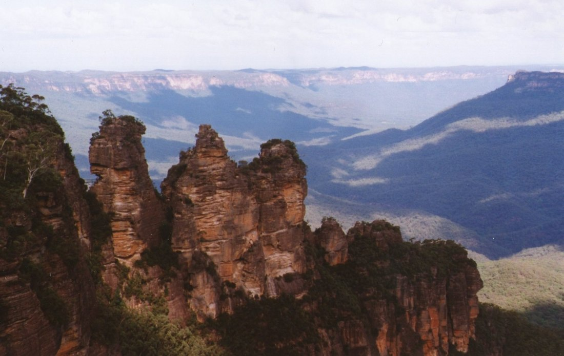 We went with Ilse to the Blue Mountains.
