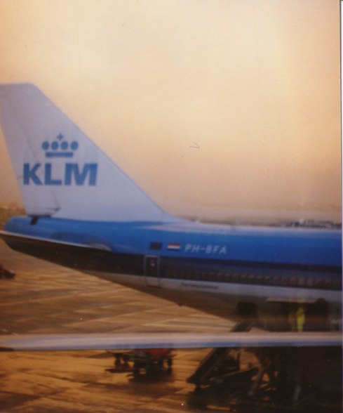 Ilse flew back with KLM. I think Peter took this picture at the airport on Ilse's day of departure.