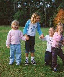 Monikas three girls with their cousin Lauren.