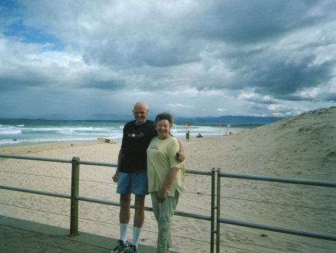 This picture with Peter and Ilse was taken during her stay with us in 2001