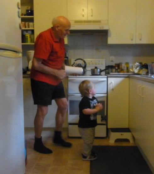 Here he is with Great-Granddad.