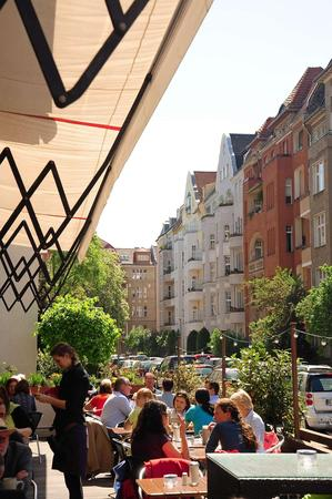 This is a picture of Bozener Strasse seen from the