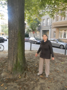 Here I am under that tree in September 2012,