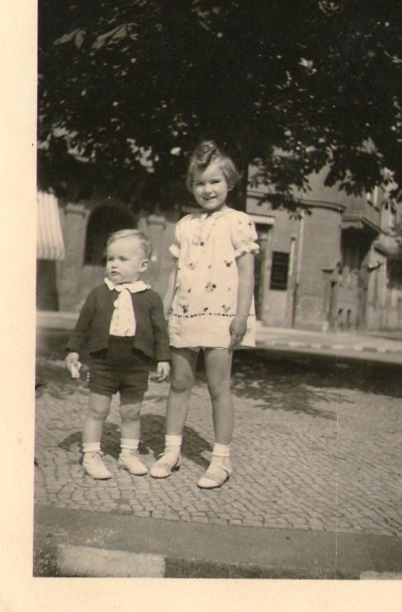 This picture under the chestnut tree was taken on the 9th June 1940, my brother Bodo's second birthday.