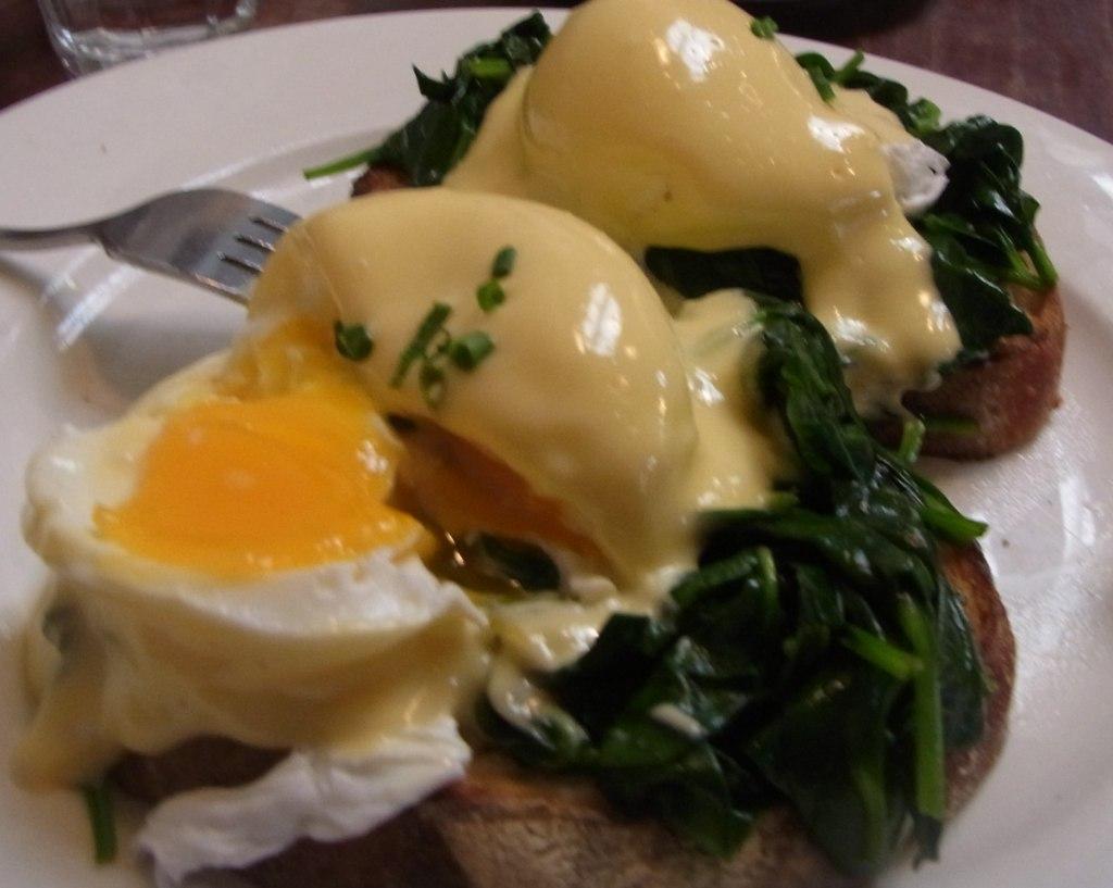 I chose Eggs Florentine