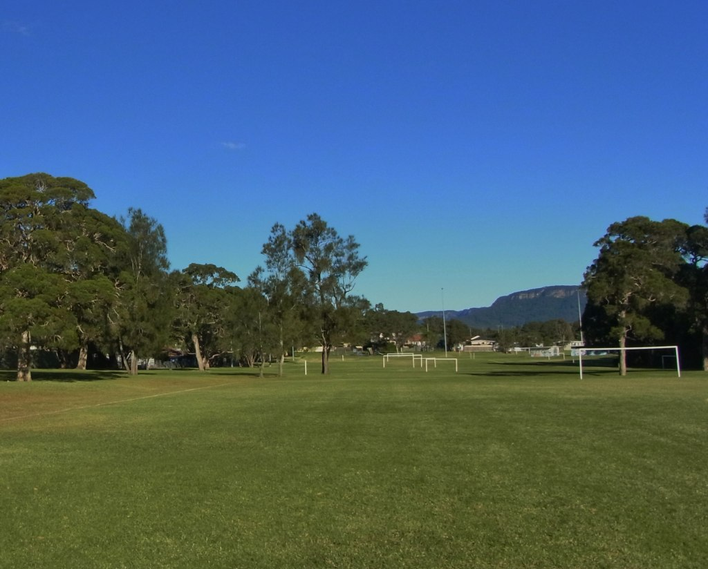 I started walking across the soccer fields in Lakelands Park.