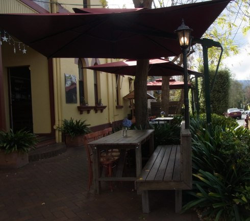 Some of the Outside Sitting Area of the LEAF Restaurant.