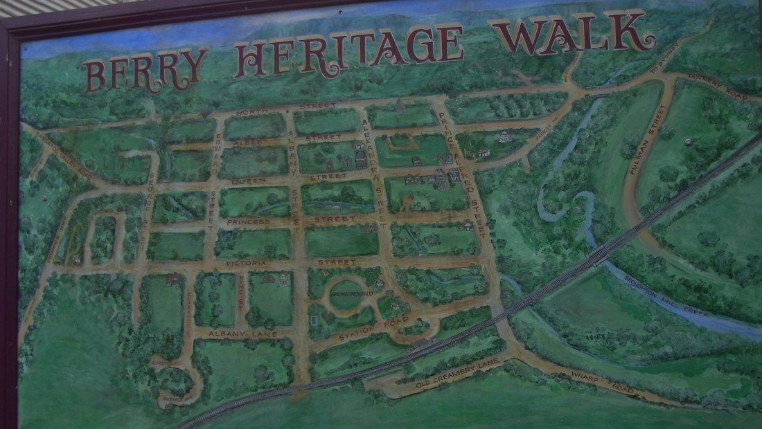 On the way we saw this map in one of the windows.
