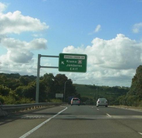 Passing Kiama Exit