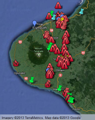 taranaki frackings sites