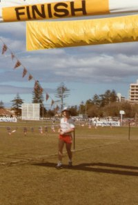 Here is 25 year old Martin after finishing the HALF MARATHON.