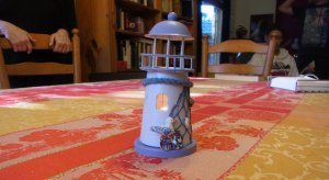 Jenni, our neighbour,  gave us this tealight tower.